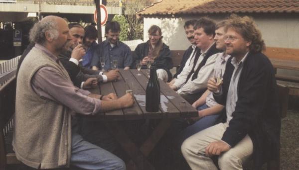 Die Gründungsmitglieder der Bauernmolkerei im Jahr 1996